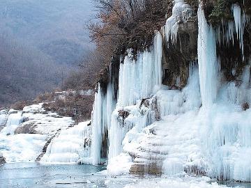 1月13日,周六出行辉县西沟村看冰挂