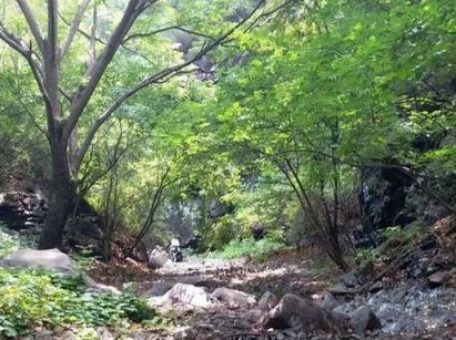 探秘深山老林 攀爬巨石瀑布