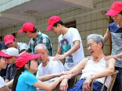 关注老人,献爱心,让我们一起行动起来
