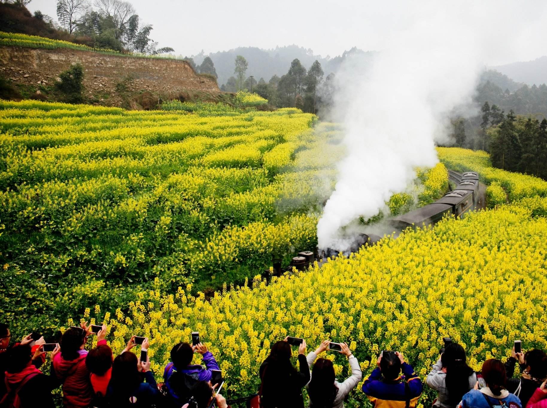 3月16号号乐山嘉阳小火车一日徒步摄影