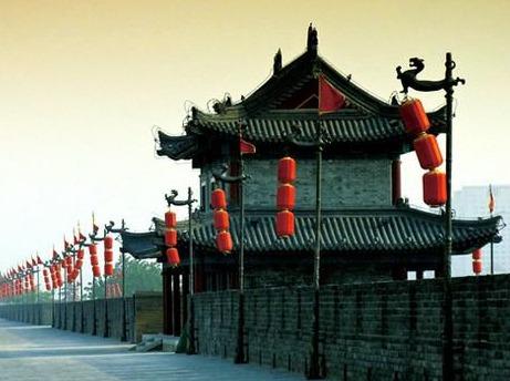 西安古城墙晨跑,欣赏清晨的西安5.25