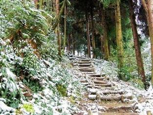 徒步冬季赵公山