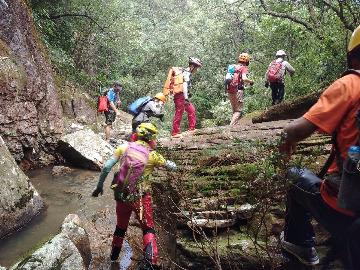 龙潭瀑布群探险
