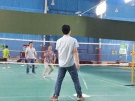 我在平凉打羽毛球