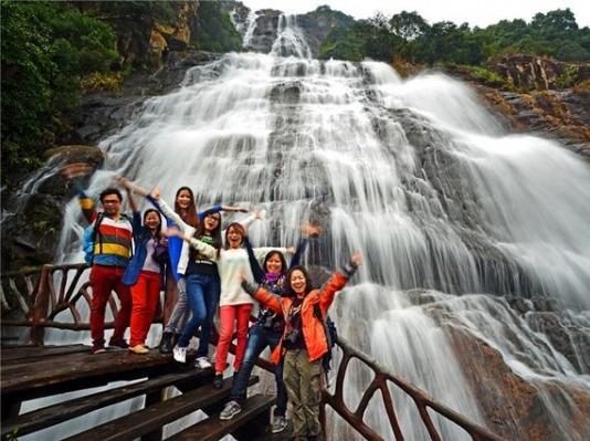 12月3日增城白水寨瀑布 天南第一梯