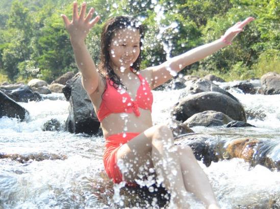 海丰水底河溯溪打火锅游泳