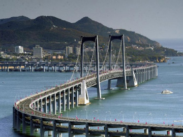 本周六大连星海湾跨海大桥徒步休闲拍照