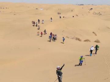 五一劳动节内蒙古库布齐沙漠穿越露营