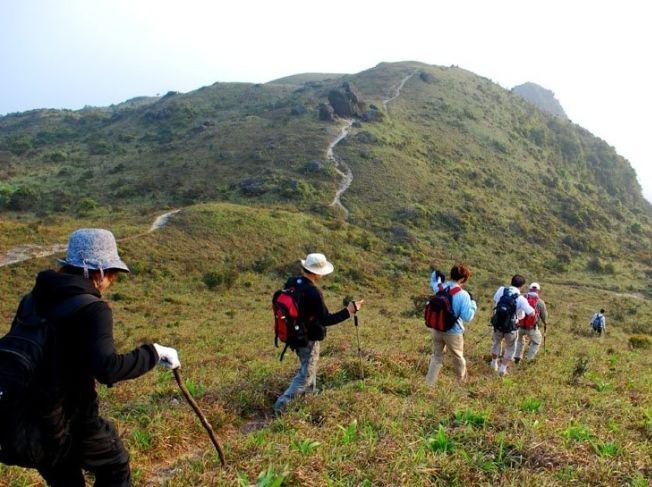 11月4日七娘山爬山,观地质公园