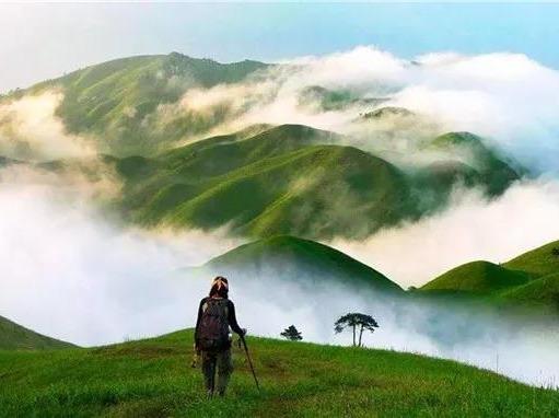 武功山人间仙境、草原徒步、观万里云海