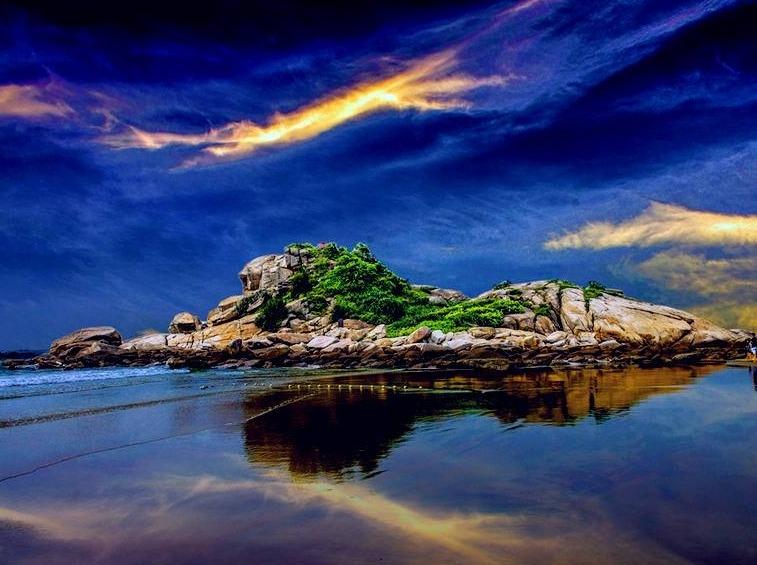 五一、惠州双月湾狮子岛露营、烧烤、捕鱼