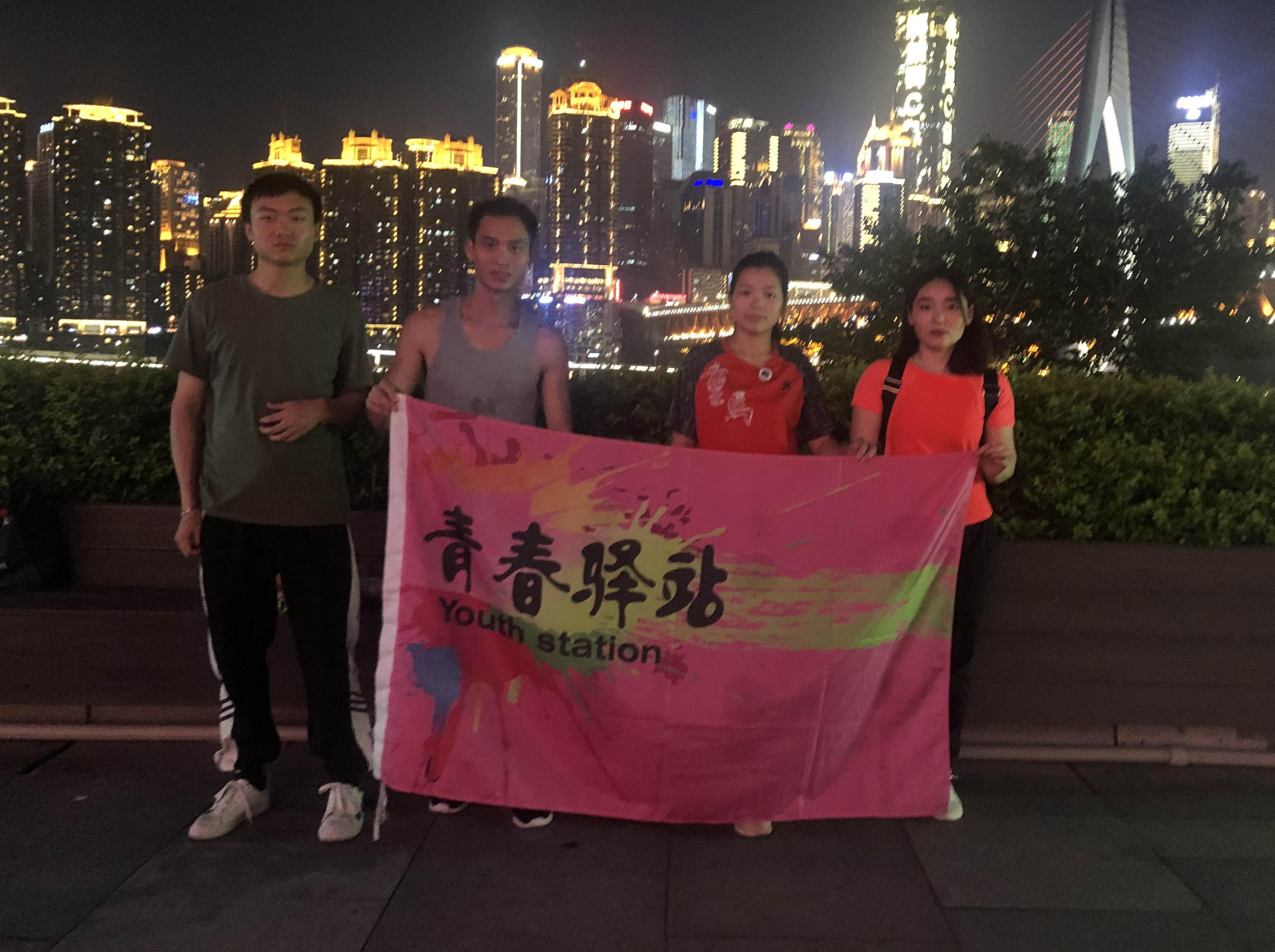 青春驿站江北大剧院夜跑0619