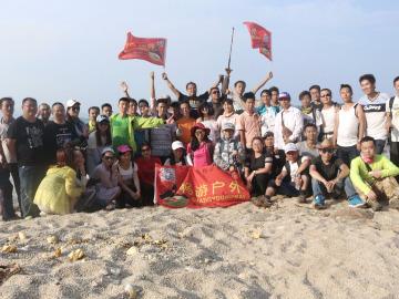 七月二号惠州狮子岛海岸线徒步游泳