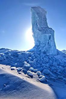 骑行龙头礁看海冰