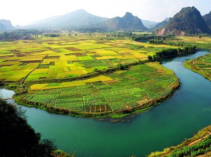 清远英西峰林 小桂林 休闲徒步 稻子黄了