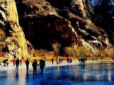 周六一天 白河踏冰