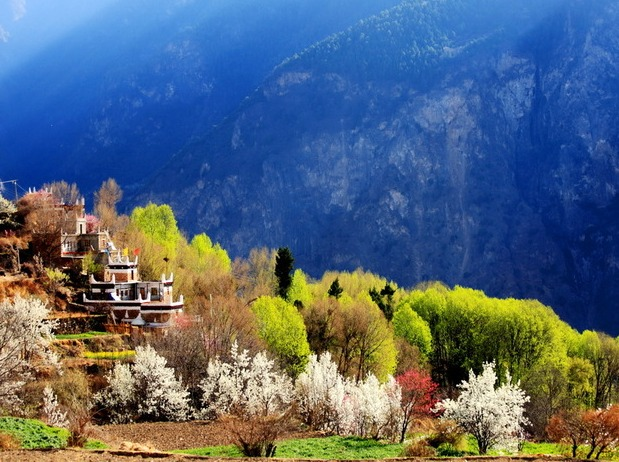 初春踏青,走丹巴;神山观雪,访四姑娘山