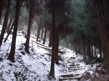 12月31日彭州天台山登高迎新年
