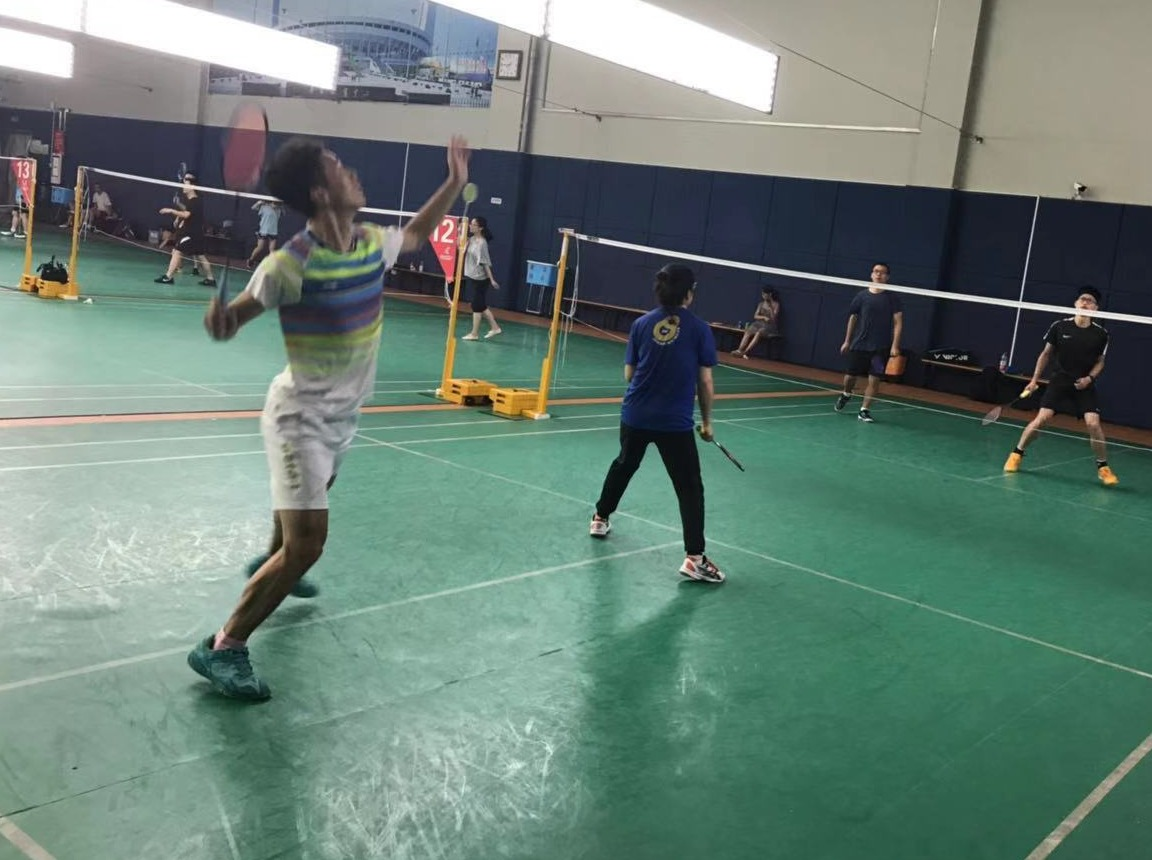 8月31日下午黄龙体育馆羽毛球活动