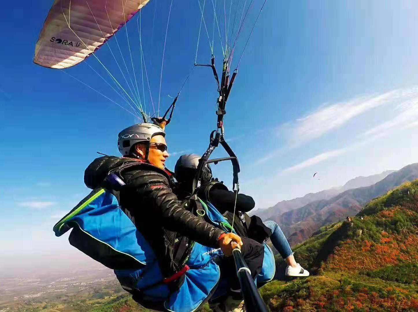 超级划算299元,原价680智峰山滑翔伞